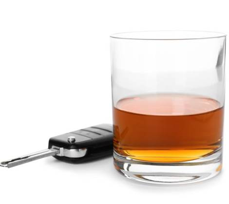 Drink driving - alcohol and driver car keys