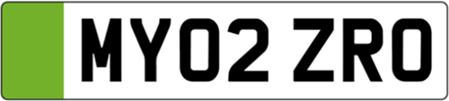electric vehicle green front number plate